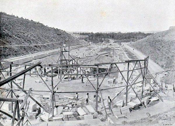 Budowa stadionu olimpijskiego w Atenach