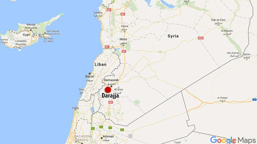 Położenie Darajji na mapie Syrii