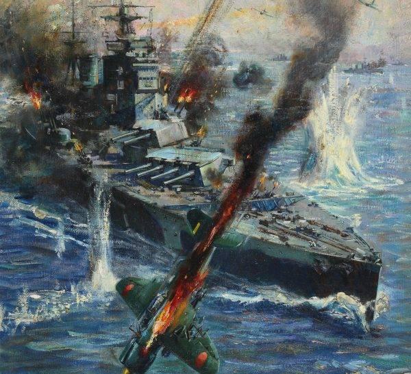 W starciu z Japończykami na Pacyfiku Brytyjczycy ponieśli sromotną klęskę.