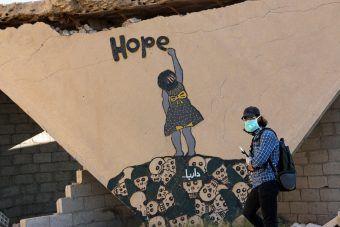 Mural dzieła Abu Malika al-Shamiego w Darajji