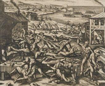 Początki europejskiego osadnictwa w Ameryce nie były łatwe. Niewolnictwo, akty kanibalizmu, krwawe potyczki z Indianami stanowiły ponurą rzeczywistość przyszłych Stanów Zjednoczonych.
