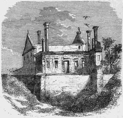 Ruiny zamku Czartoryskich w XIX wieku