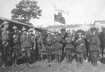 II Ochotniczy Szwadron Śmierci w czasie walk o Lwów w 1920 roku.