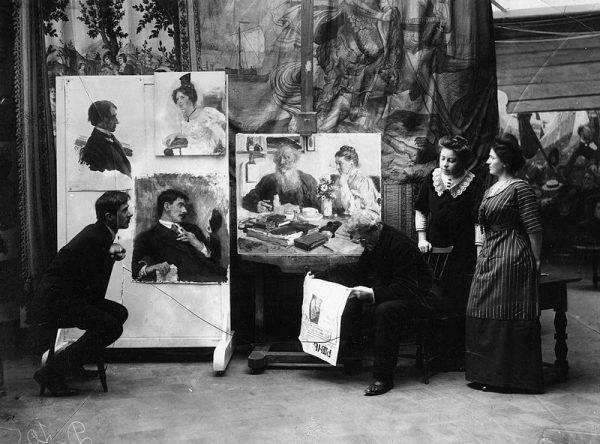 Malarz Ilja Repin dowiaduje się o śmierci Tołstoja