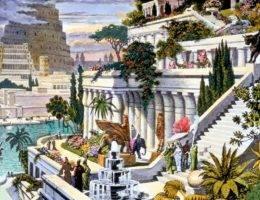 Wyobrażenie wiszących ogrodów Babilonu