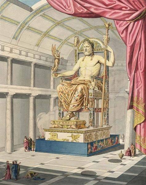 Wyobrażenie posągu Zeusa