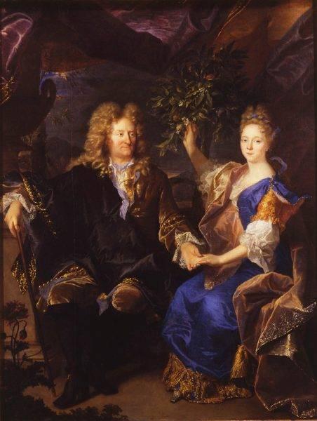 Izabela z Morsztynów Czartoryska z ojcem