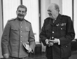 Stalin i Churchill w Jałcie