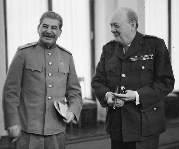 Stalin i Churchill w Jałcie