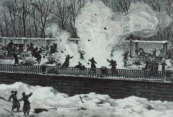 Wybuch bomby rzuconej przez Ignacego Hryniewieckiego