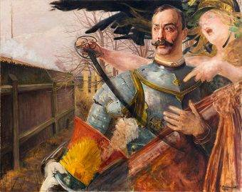 Portret Wojciecha Kossaka z Belloną pędzla Jacka Malczewskiego