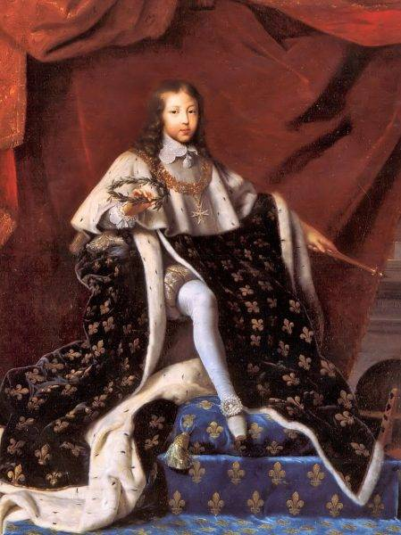 Ludwik XIV podczas koronacji