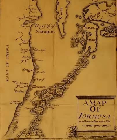 Mapa Formozy według Psalmanazara