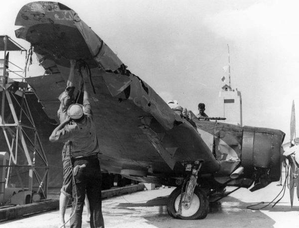 Jeden z japońskich samolotów użytych podczas ataku.