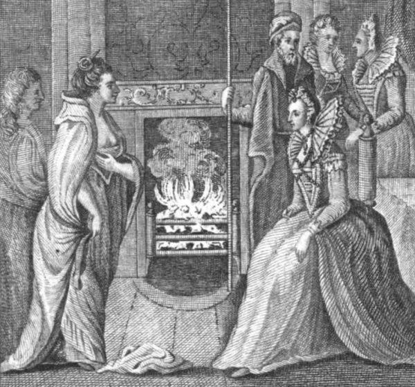 Grace O'Malley podczas audiencji u królowej Elżbiety I.