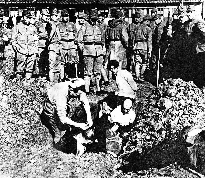 Japończycy wykazywali się niezwykłą brutalnością wobec Chińczyków – np. zakopywali ich żywcem...