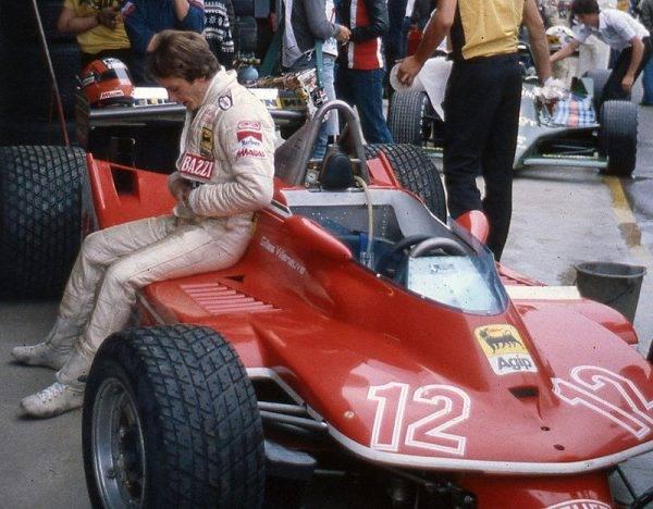 Gilles Villeneuve ze swoim ferrari w 1979 roku.