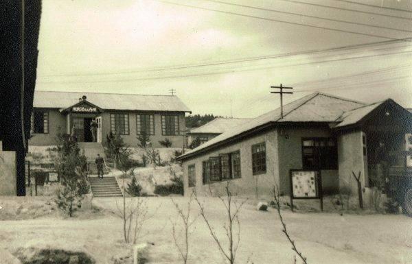 Widok na obóz polski w Panmundżom, ok. 1955 r.
