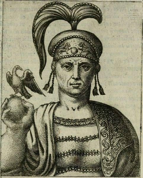 Poprzednik Justyniana, Tyberiusz III (na il.) w łańcuchach został poprowadzony ulicami w kierunku hipodromu.