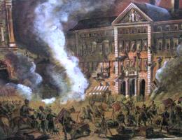 Wojsko rosyjskie demoluje pałac Zamoyskich po zamachu na Berga