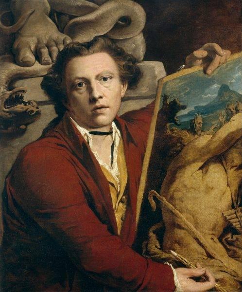 Margaret przejęła imię i nazwisko zmarłego wuja, malarza Jamesa Barry'ego (na il. jego autoportret)