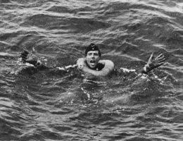 Niemiecki rozbitek z okrętu podwodnego.