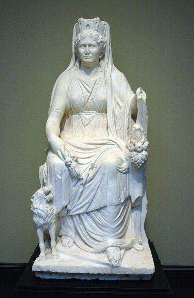 Kybele rzymska, ok. 50 r. n.e.,
