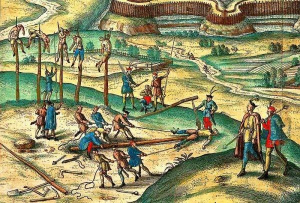 Jedną z ulubionych tortur stosowanych przez ludzi Wiśniowieckiego było nawlekanie na pal.