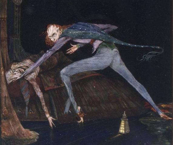 Mowa końcowa oskarżyciela natchnęła Edgara Allana Poego do napisania jednego z jego słynnych dzieł (il. autorstwa Harry'ego Clarke'a do jednej z opowieści poety).