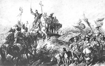 Jeremi Wiśniowiecki na czele swej armii.