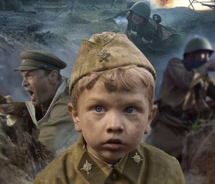 """Fragment plakatu filmu """"Solider boy"""" opowiadającego o losach najmłodszego żołnierza II wojny światowej"""