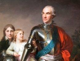 Stanisław Szczęsny Potocki z synami Stanisławem i Szczęsnym Jerzym. Czy jednak faktycznie byli oni owocem jego lędźwi? Niektórzy w to powątpiewają, gdyż żony notorycznie zdradzały bajecznie bogatego szlachcica.