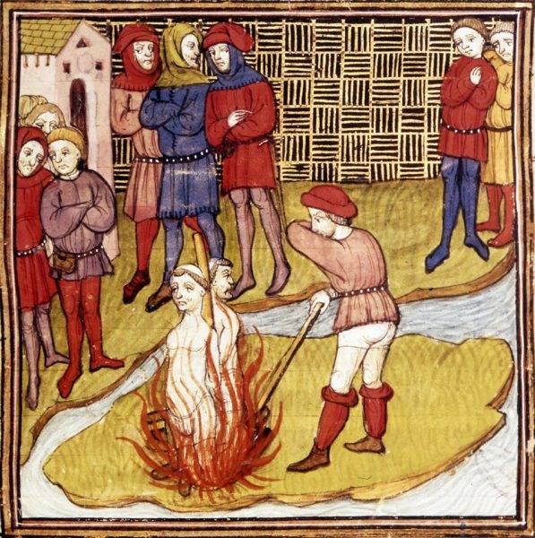 Śmierć templariuszy na stosie