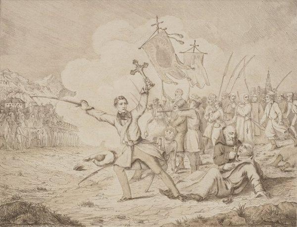 Pięć dni po śmierci Boguszów szlachta ruszyła z Krakowa przez Wieliczkę ku Gdowi. Po drodze Pierwszy Oddział Jazdy Romana Prackiego pojmał i przesłuchaniu grupę chłopstwa.