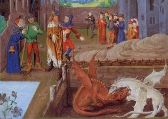 Choć popularne w średniowiecznych bestiariuszach i symbolice, smoki nie cieszyły się dobrą opinią w świecie chrześcijańskim.
