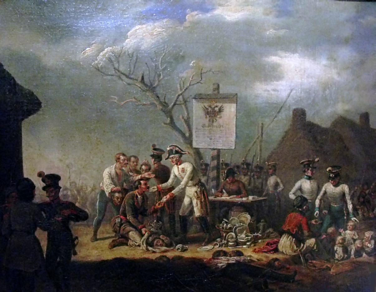 18 lutego 1846 roku austriaccy agenci poinformowali chłopów, że szlachta zbiera się, aby ich wymordować. Chłopi, uzbrojeni w siekiery, kosy i widły, ruszyli na dwory.