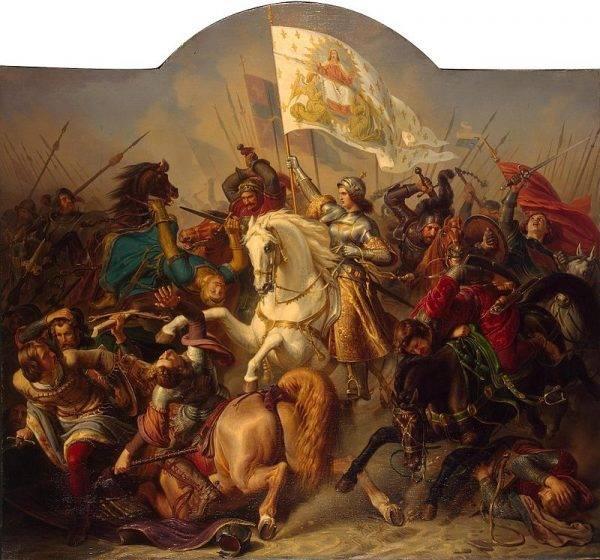 Nie czekając na zgody, sama ruszyła do boju wraz z wiernymi sobie oddziałami, zdobywając kilka twierdz, należących dotychczas do Anglików.