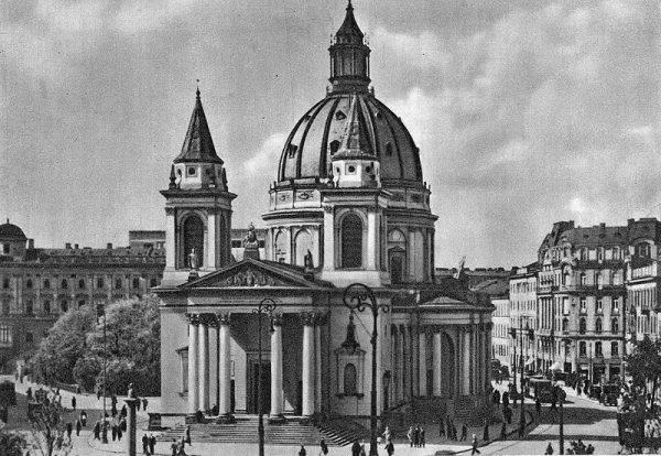 Kościół św. Aleksandra w Warszawie (wygląd przedwojenny), miejsce aresztowania żołnierzy oddziału