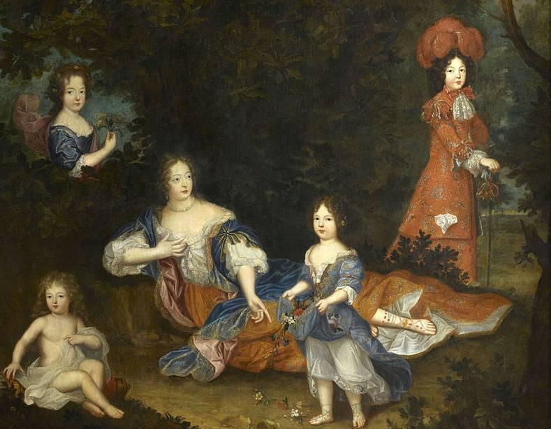 Markiza de Montespan z dziećmi