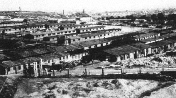 Niemiecki obóz w Płaszowie w 1942 roku.