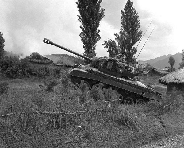 Pershing podczas wojny koreańskiej w 1950 roku