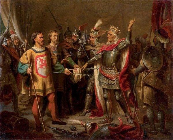 Co do pożyczki i przejęcia wyspy, Jagiełło odmówił. Wskazywał, że ma u granic swojego państwa Tatarów, więc byłoby niewłaściwe bronić obce królestwo kosztem własnego.