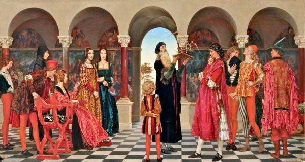 Ludovico Sforza chciał, by Mediolan (na wzór Florencji) stał się miastem pełnym sztuki i wybitnych artystów.
