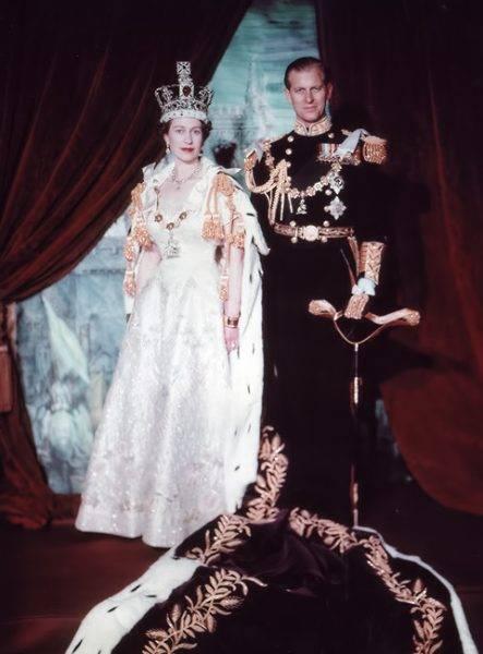 Elżbieta i Filip po koronacji