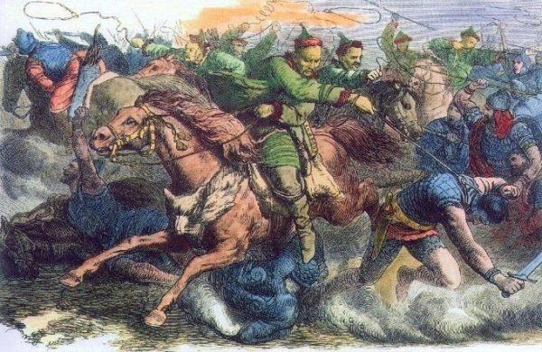 Z kolei plemiona zamieszkałe bardziej na wschód wycofywały się przed nacierającymi Hunami.