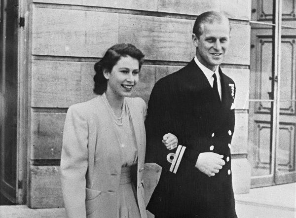 Książę Filip i księżniczka Elżbieta w 1947 roku.