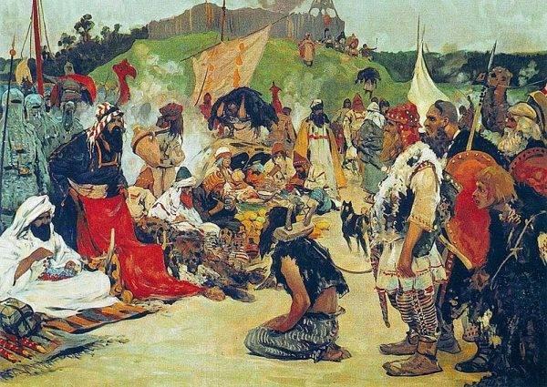 Za niewolników przybysze z południa płacili niemało – i to srebrnymi monetami.