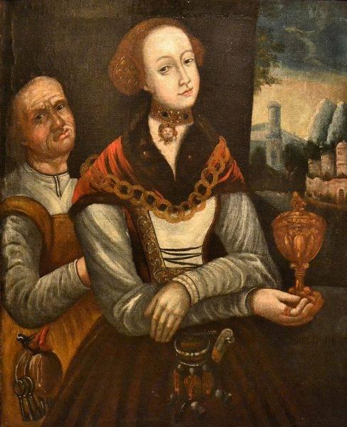 Podwójny portret Sydonii von Borck jako młodej i starej kobiety