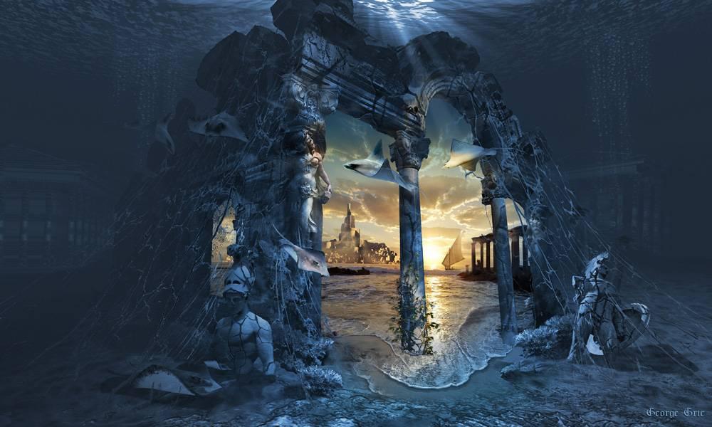 Inspiracją dla utopijnej wizji niezwykłej krainy, którą jako pierwszy opisał Platon, miało być greckie polis Helike.