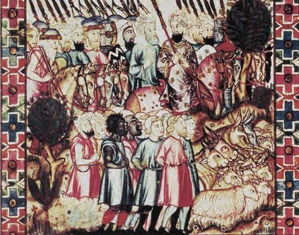 Targowiska, jak to w Kordobie czy Bagdadzie, były pełne białych ludzi o niebieskich oczach i blond włosach.